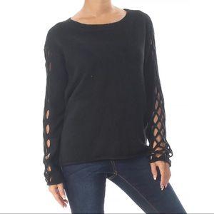 Vince Camuto Lattice Sleeve Sweater